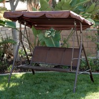 3-Person Patio Swing Outdoor Canopy Tilt Awning Yard ...