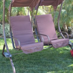 Swing Chair Toronto Space Saving Table And Chairs Padded Hammock Outsunny Rattan Double