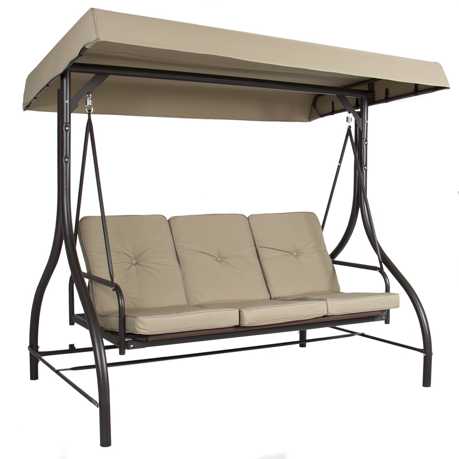 Outdoor Chair With Canopy Outdoor 3 Person Patio Porch Swing Hammock Bench Canopy