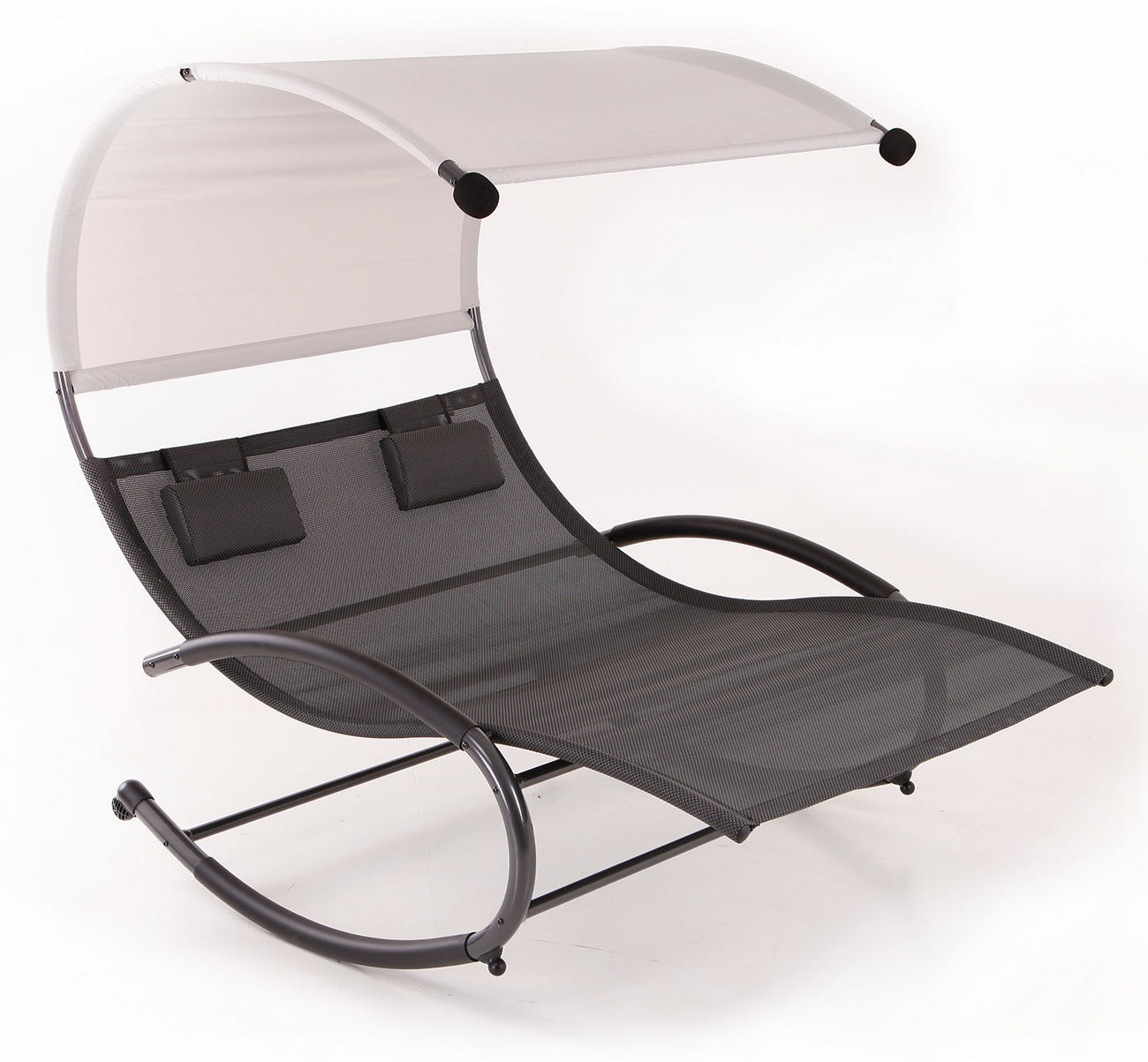 double lounge chair upholstered office on casters chaise rocker patio furniture seat canopy