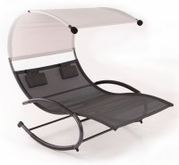 Double Chaise Rocker Patio Furniture Seat Chair Canopy ...