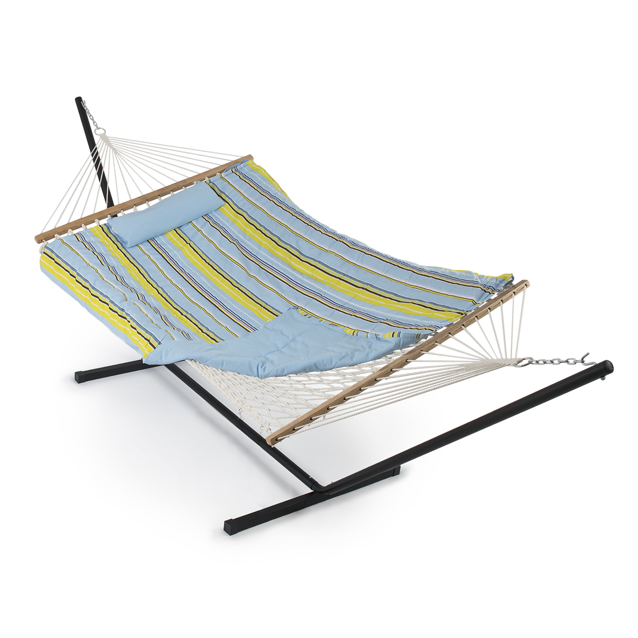 rope chair swing stand replacement patio cushions sale outdoor hammock combo w pad pillow