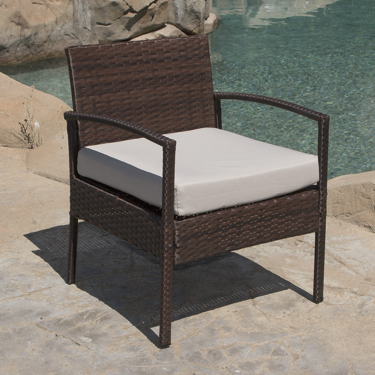 Wicker Rattan Chair 3 Pcs Outdoor Rattan Wicker Patio Chat Chairs And Table