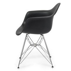 Mid Century Modern Plastic Chairs Batman Camping Chair Style Black Molded Daw Dining