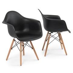 Eames Arm Chair Orange Club Set Of 2 Dsw Style Armchair Legs Mid