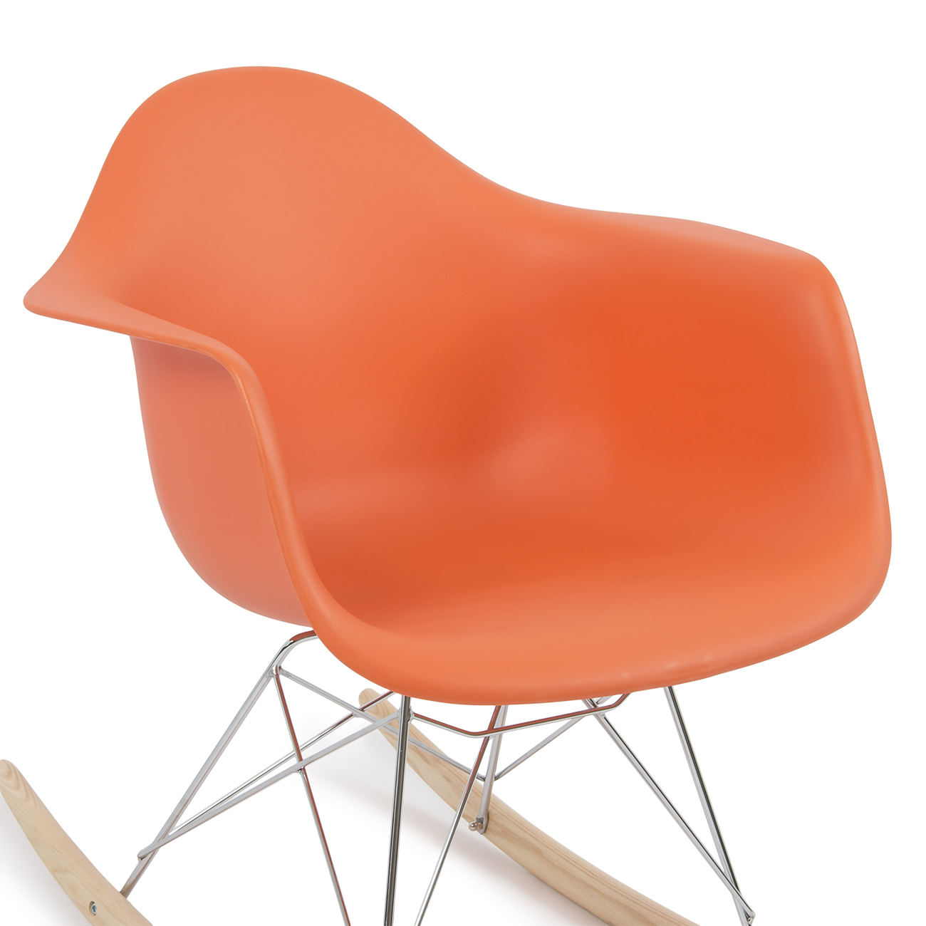 arm chair rocker fold out bed eames rar style mid century modern rocking shell