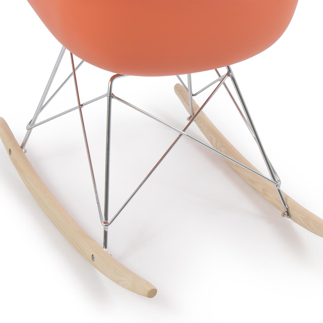 eames rocking chair black leather dining chairs retro dsw style modern arm rar rocker