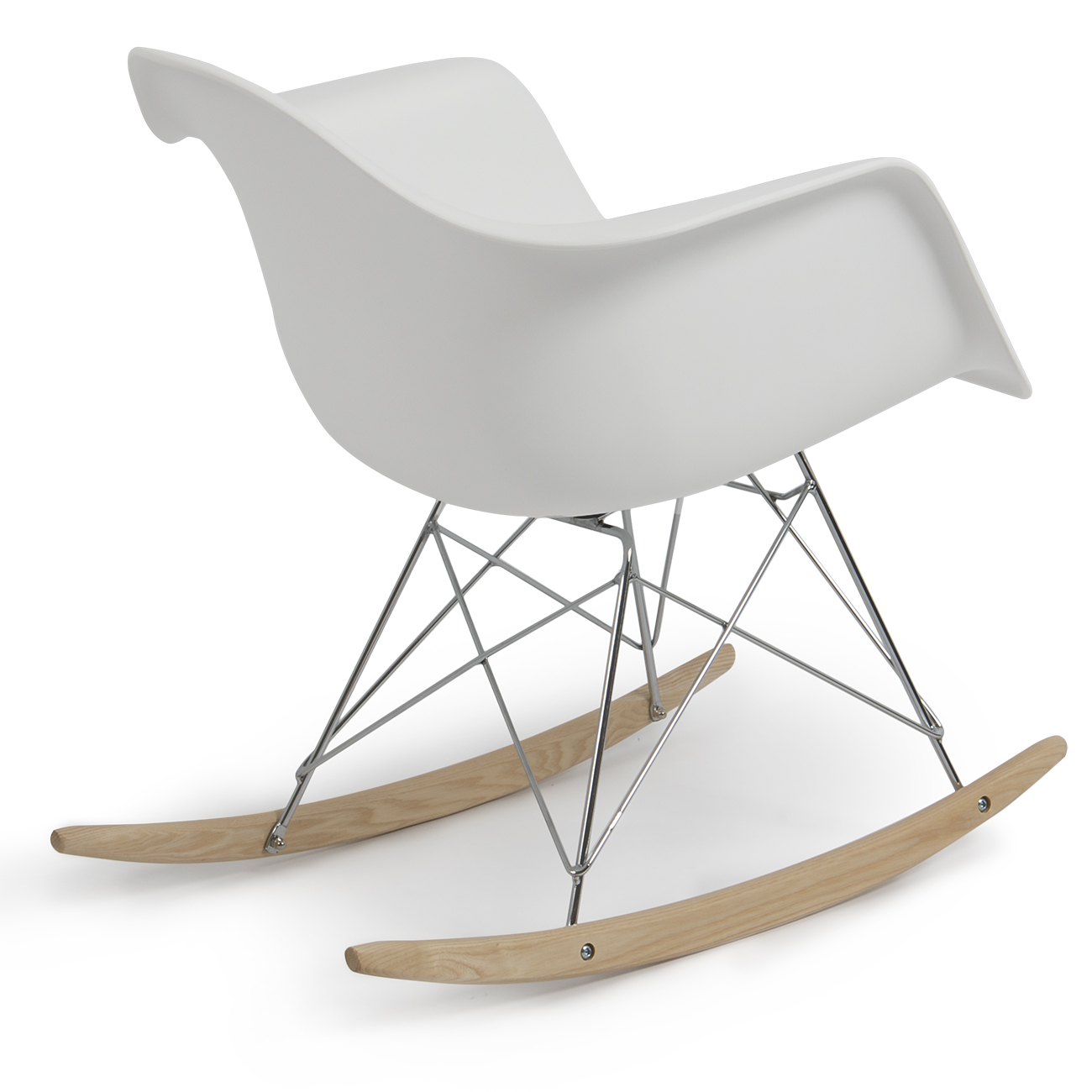 plastic rocking chair for office without wheels eames rar style mid century modern molded