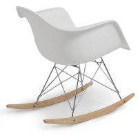 Eames RAR Style Mid Century Modern Molded Plastic Rocking ...