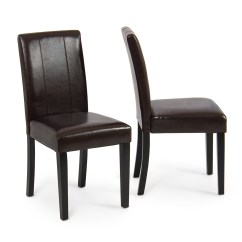 Parson Dining Room Chair Sets Pompanette Helm Chairs Elegant Modern Parsons Leather Living