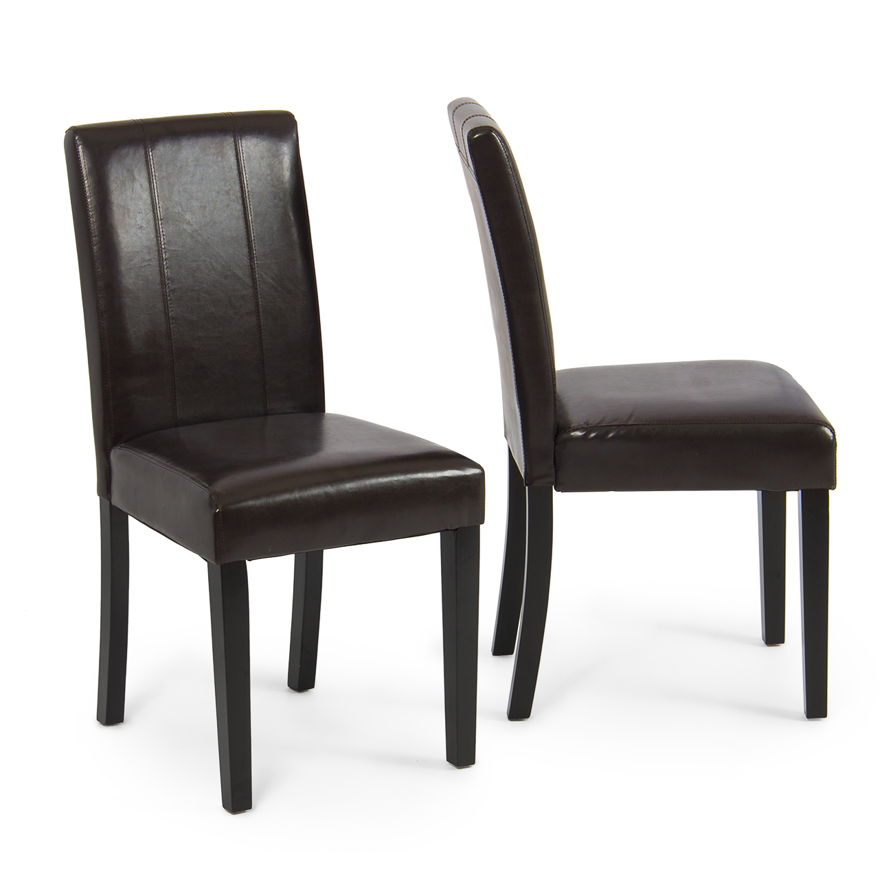 leather dining room chairs chair positions for scaling elegant modern parsons living
