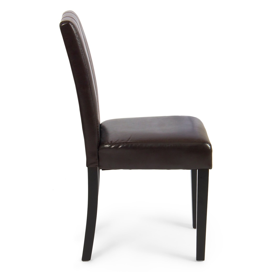 Elegant Modern Parsons Chair Leather Dining Living Room ...