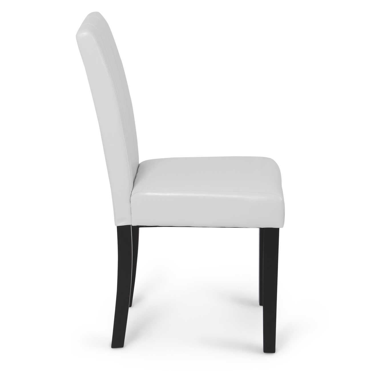 Elegant Chairs Set Of 2 Elegant Design Modern White Leather Parson Dining