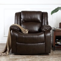 Recliner Chairs For Living Room Dark Brown / Black Leather ...