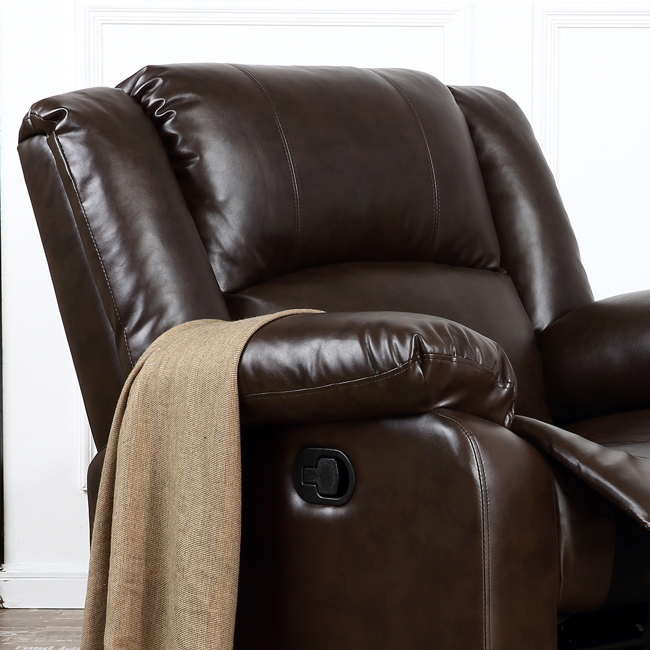 Black Living Room Chair Recliner Chairs For Living Room Dark Brown Black Leather