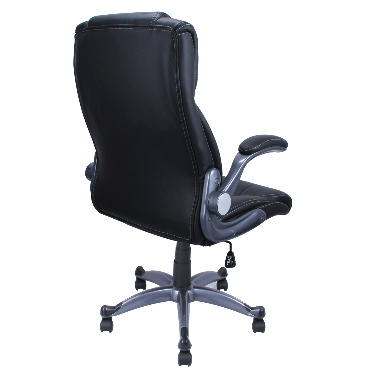 modern black leather desk chair outdoor fishing pu ergonomic executive computer