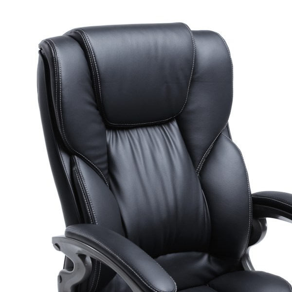 leather office chair Black PU Leather High Back Office Chair Executive Task Ergonomic Computer Desk | eBay