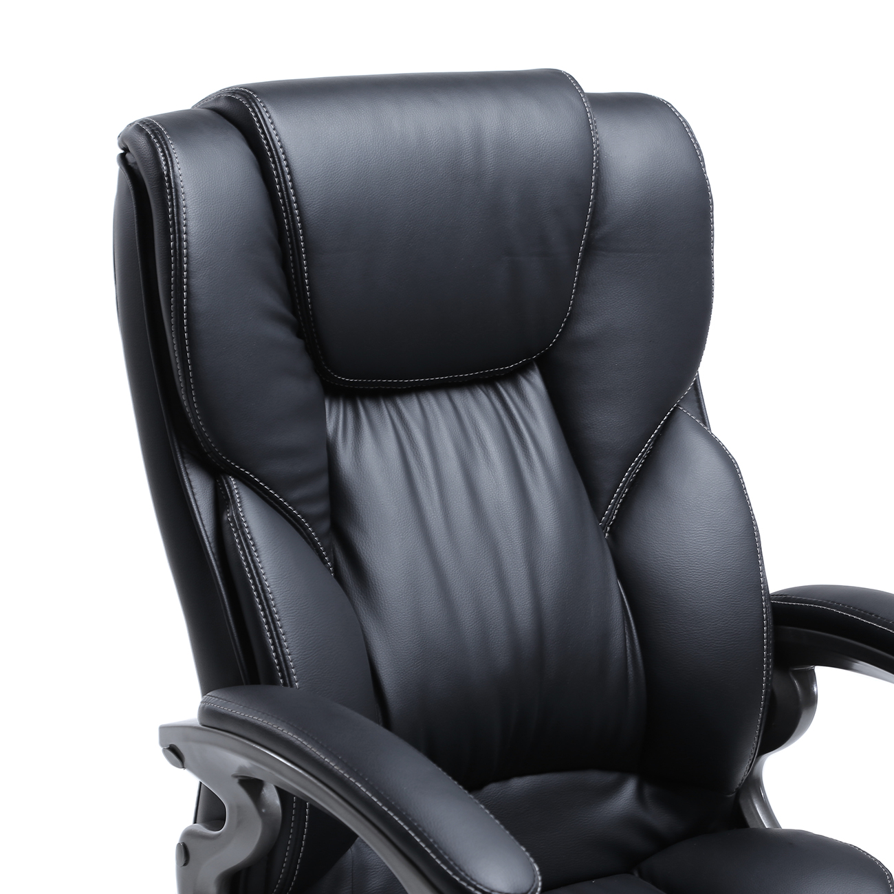 Comfortable Computer Chairs Black Pu Leather High Back Office Chair Executive Task