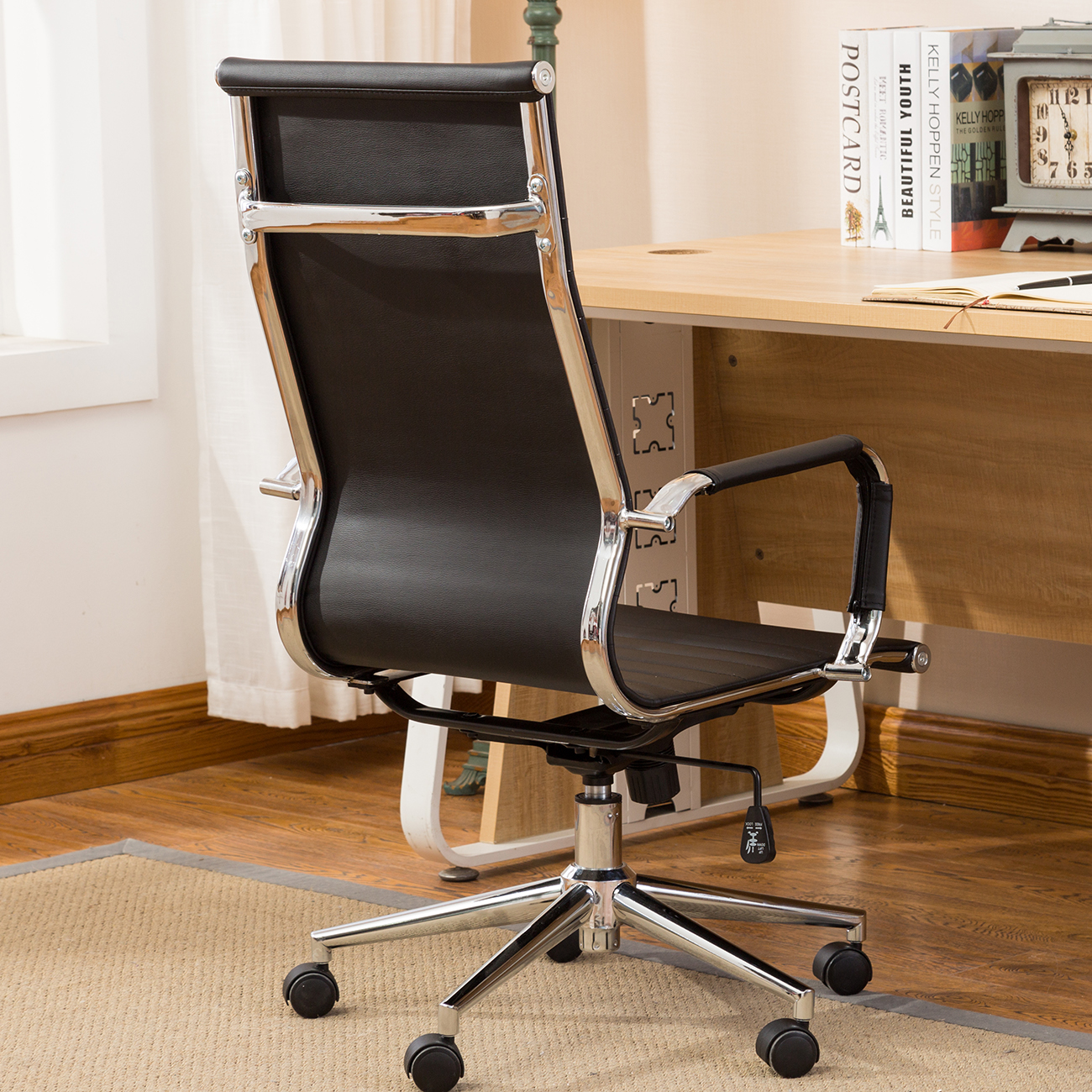 ergonomic office chair ebay best reclining ribbed pu leather high back executive computer