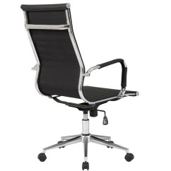 High Quality Office Chairs Ergonomic Chair Oe15 Ribbed Pu Leather Back Executive Computer