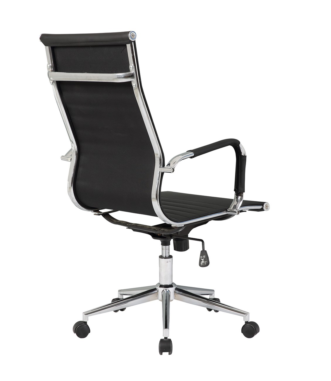 pu leather office chair highwood adirondack ergonomic ribbed high back executive computer