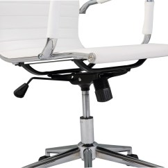 Pu Leather Office Chair Table Rentals 2 Ergonomic Ribbed High Back Executive Computer