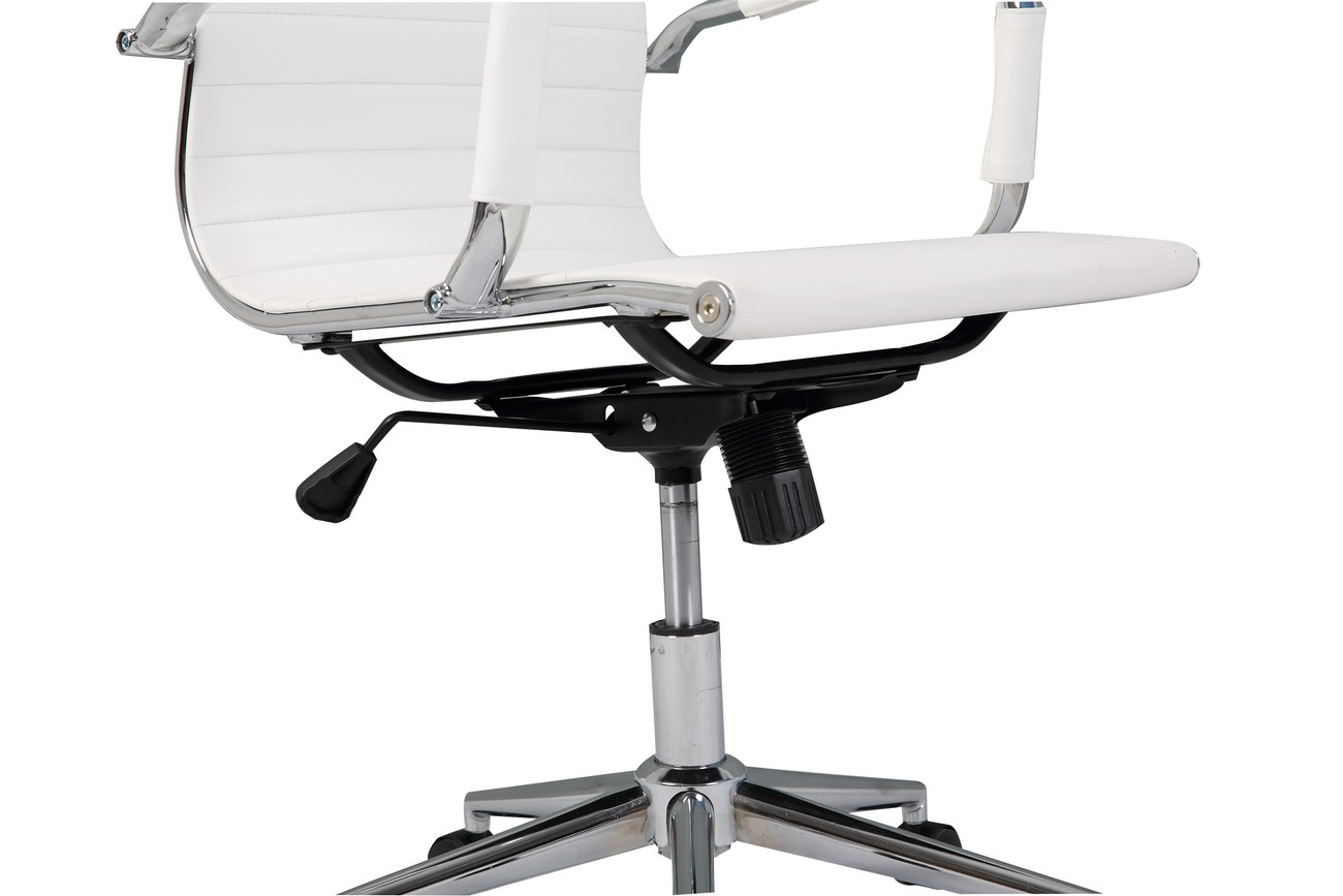 Ergonomic Computer Chair Ergonomic Ribbed Pu Leather High Back Executive Computer