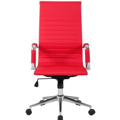 High Quality Office Chairs Ergonomic Unusual Wedding Chair Decorations Ribbed Pu Leather Back Executive Computer