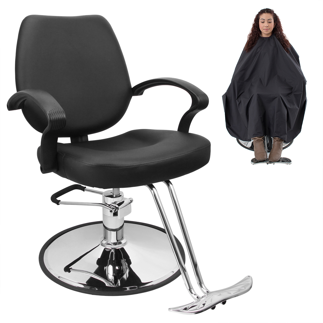 hydraulic hair styling chairs clear acrylic swivel chair classic barber salon beauty spa