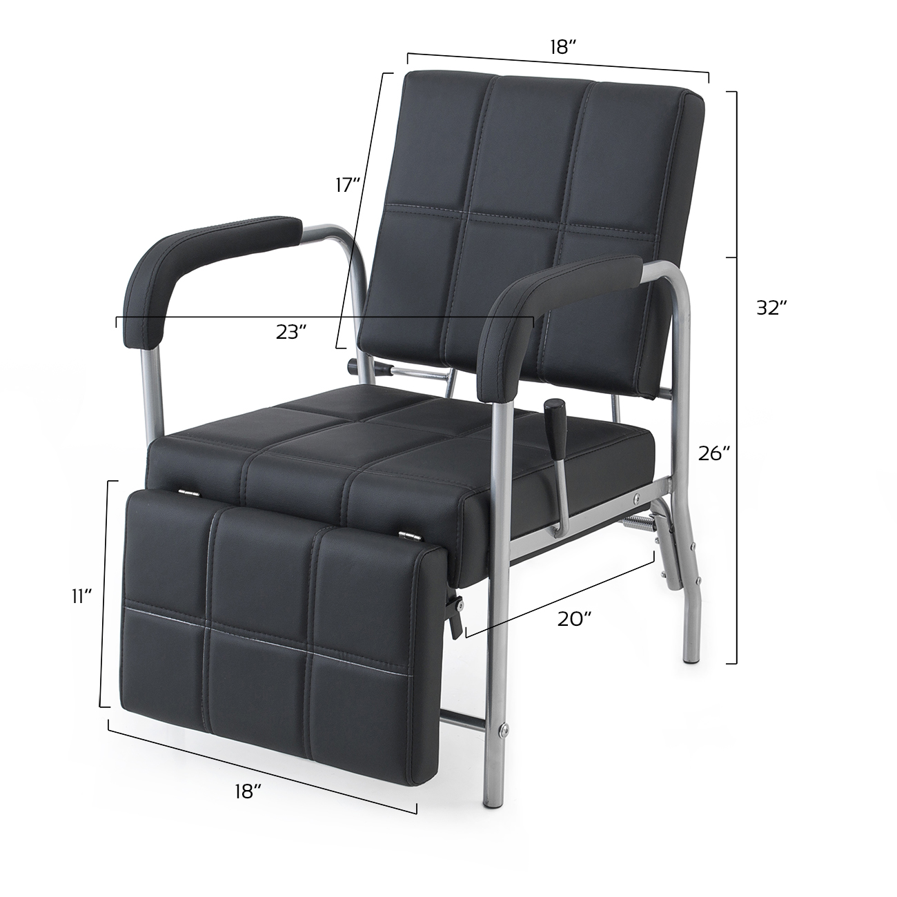 chair with leg rest india wicker chairs walmart reclining shampoo adjustable barber beauty