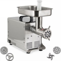 Electric Grinder Kitchen Gray Wash Cabinets 12 Meat 550w Commercial Grade Stainless