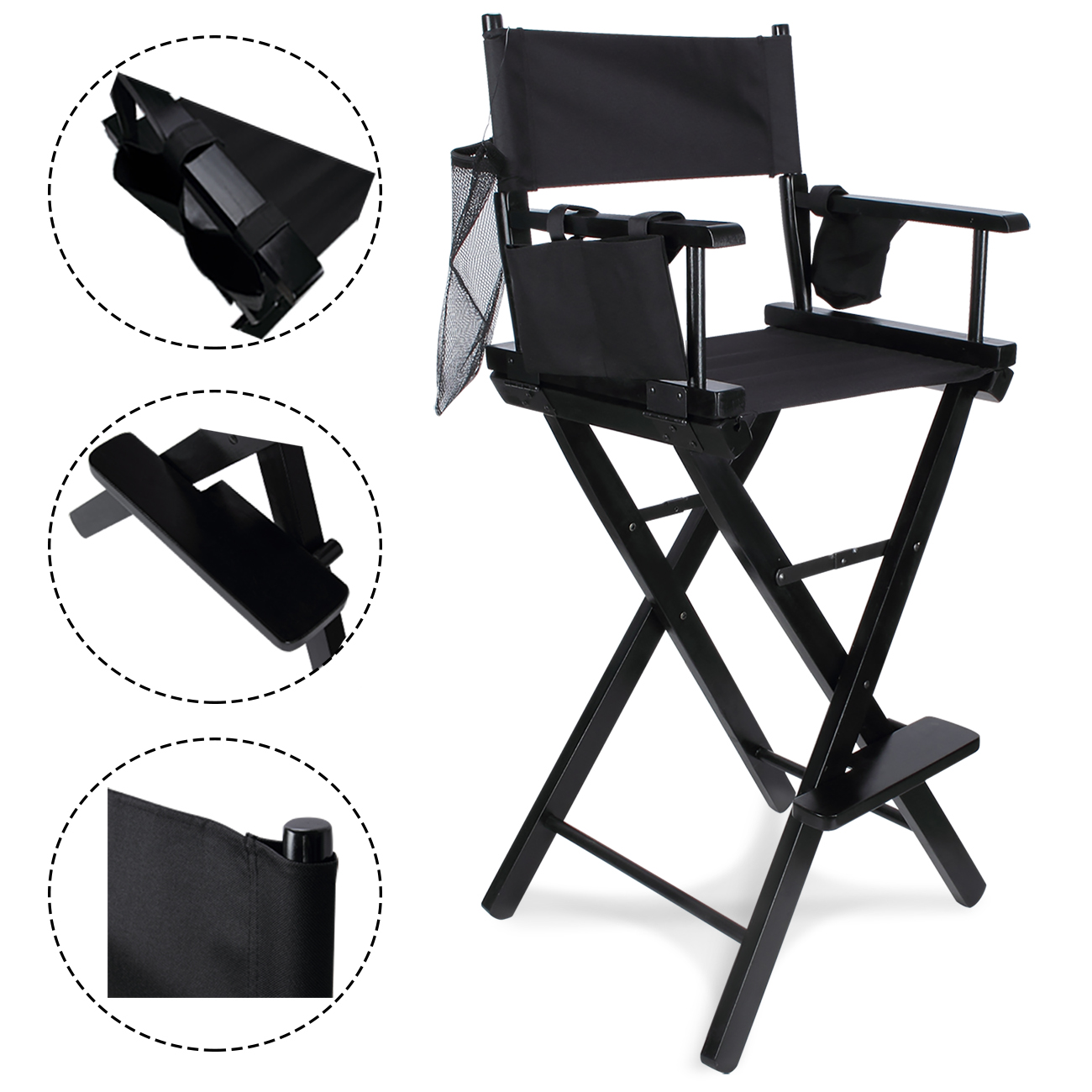 makeup chairs for professional artists swing chair sale 30 artist directors wood light weight details about foldable black