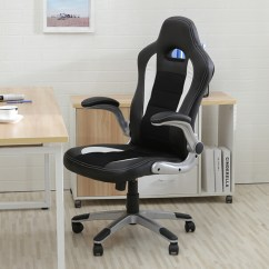 Office Chair Armrest Brown Leather Executive Ergonomic Computer Pu Desk Race Car