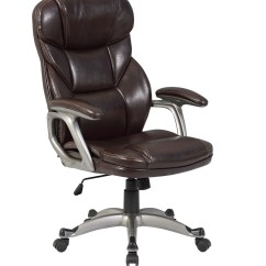 Pu Leather Office Chair Toddler Wood And Table Executive Ergonomic High Back Desk