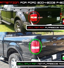 for 04 08 f150 black smoked halo projector headlights smoked led tail lights [ 1000 x 942 Pixel ]