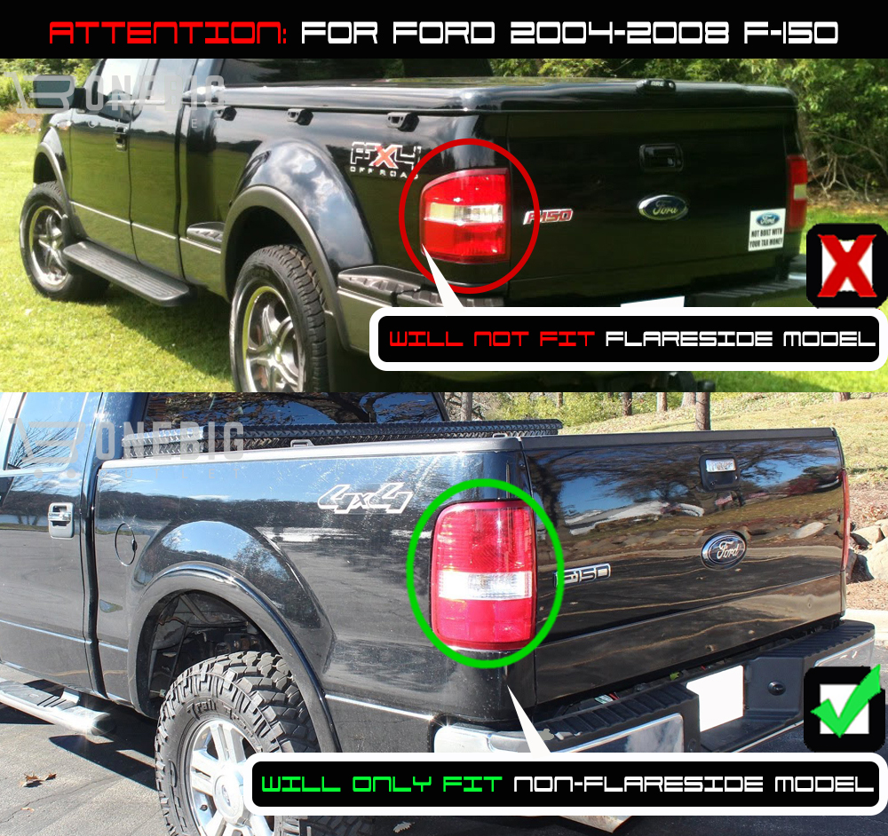 hight resolution of for 04 08 f150 black smoked halo projector headlights smoked led tail lights