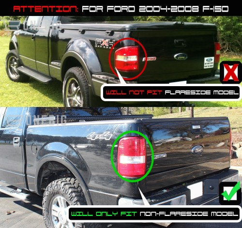 small resolution of for 04 08 f150 black smoked halo projector headlights smoked led tail lights