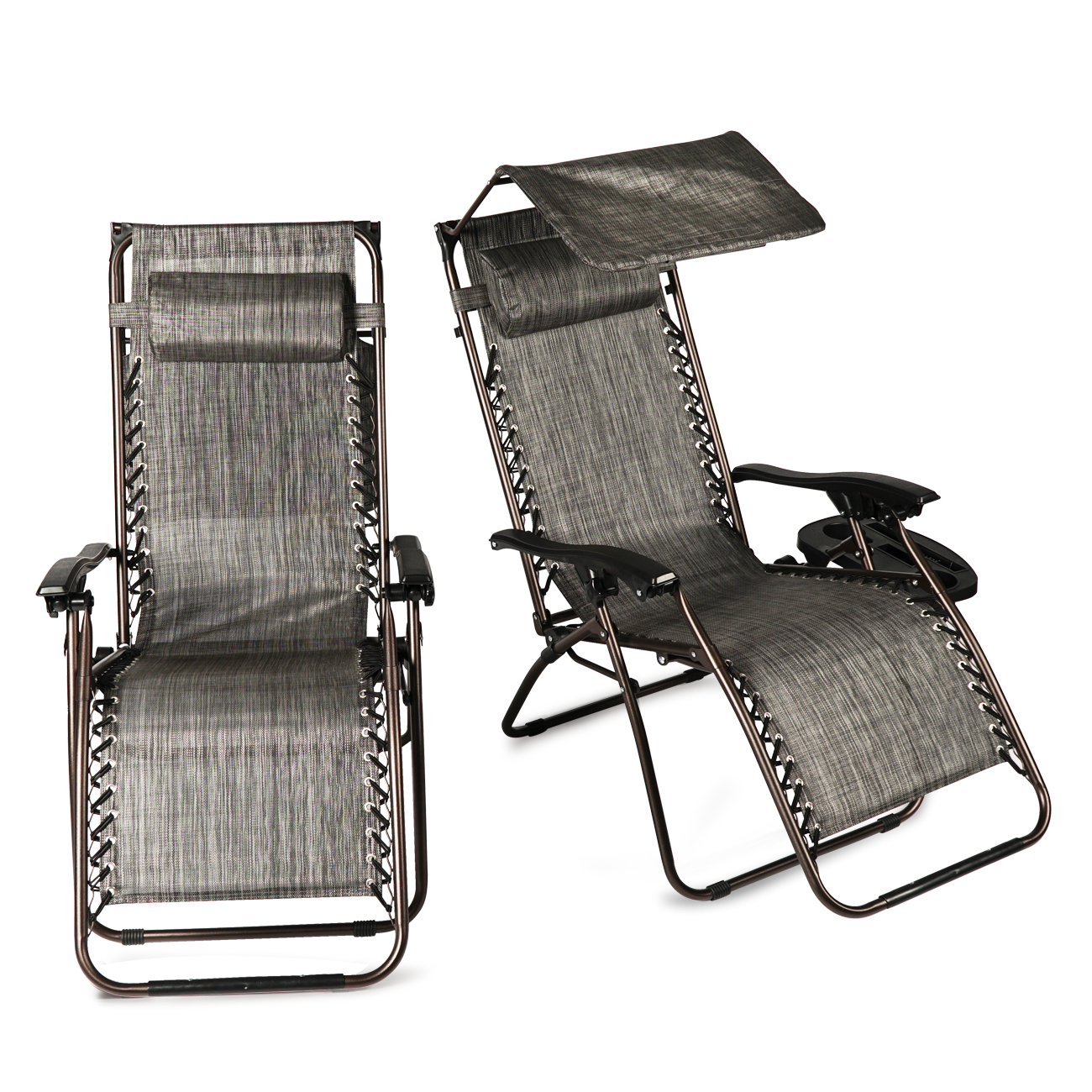 Beach Chair With Cup Holder New 2 Pcs Zero Gravity Folding Lounge Beach Chairs W