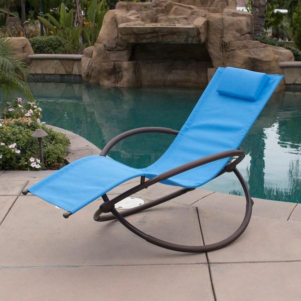 Orbital Folding Gravity Lounge Chairs Outdoor Beach Patio Lawn Pool 1pc