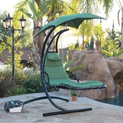 Hanging Lawn Chair Portable Lounge With Umbrella Chaise Hammock Swing Canopy Glider