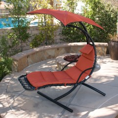 Hammock Chair With Canopy Cross Back Dining Chairs Hanging Chaise Lounge Swing Glider