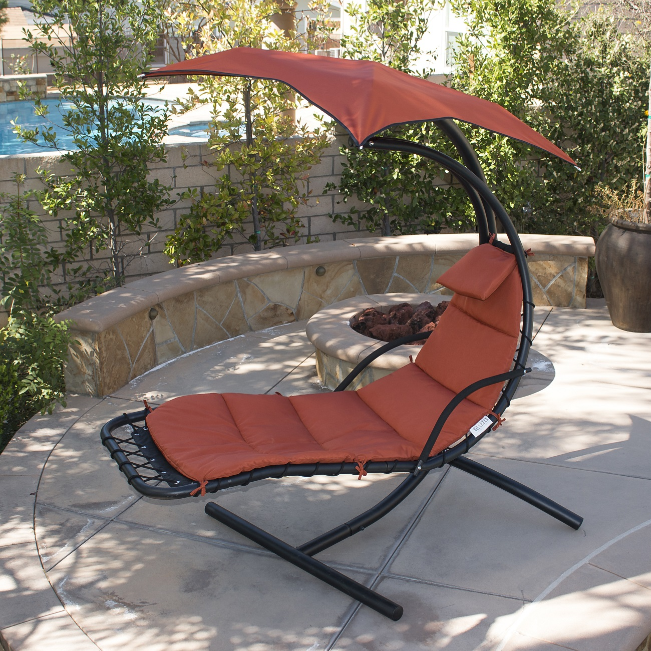 Glider Patio Chairs Hanging Chaise Lounge Chair Hammock Swing Canopy Glider