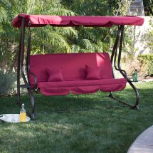3 Person Outdoor Swing Withcanopy Seat Patio Hammock