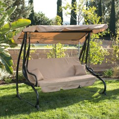 Swing Chair Over Canyon Jazzy Mobility 3 Person Outdoor W Canopy Seat Patio Hammock
