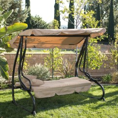 Hanging Chair Loveseat Coleman Max Camping 3 Person Outdoor Swing W Canopy Seat Patio Hammock