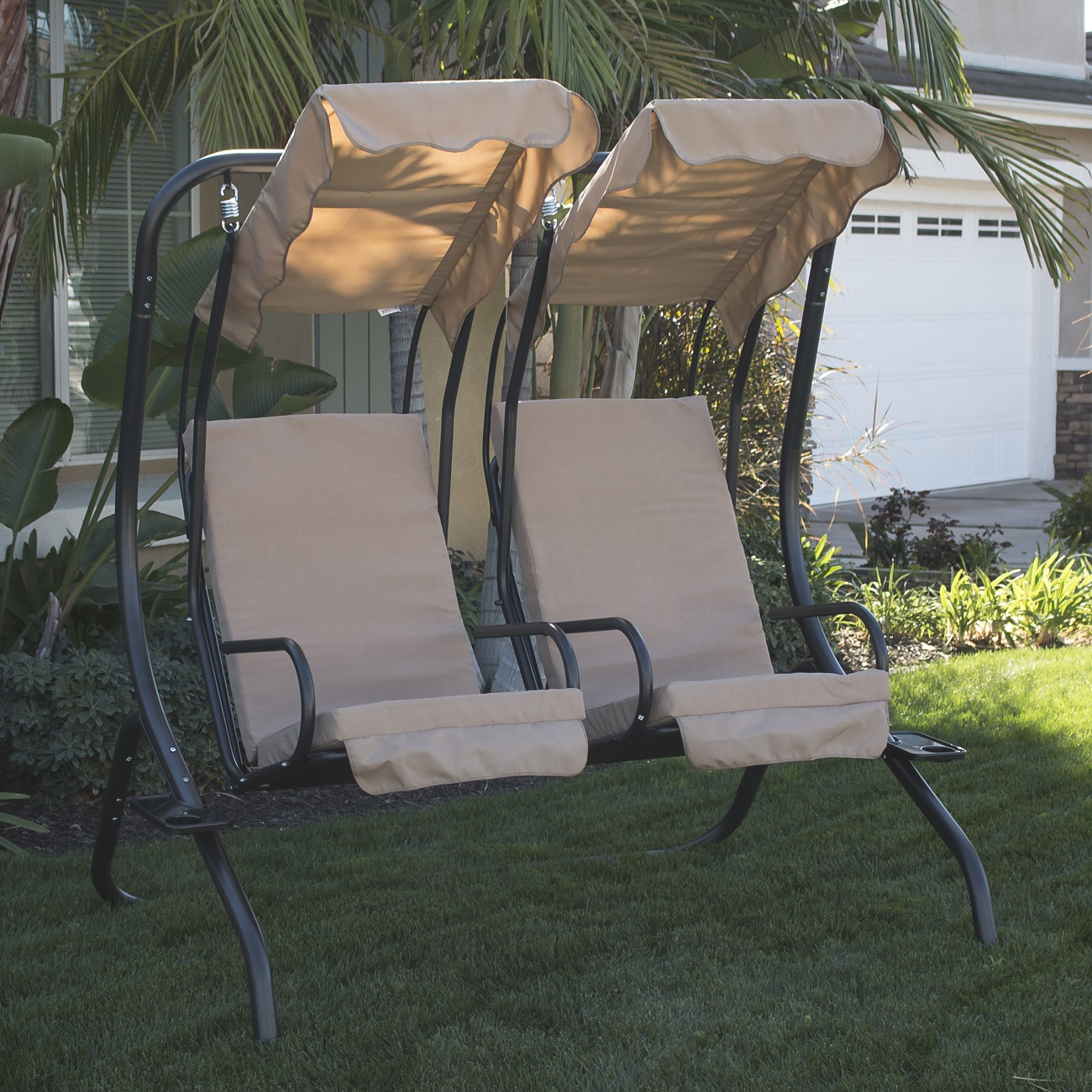 swing chair over canyon bedroom chairs ikea new outdoor set 2 person patio frame padded seat