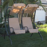 NEW Outdoor Swing Set 2-Person Patio Frame Padded Seat ...