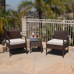 Wicker Patio Chair Set Royal Blue Sashes For Sale 3pc Rattan Bistro Sofa Coffee Table