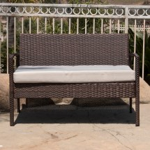 4pc Rattan Wicker Patio Furniture Set Sofa Chair Table
