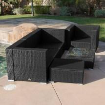 6pc Rattan Wicker Patio Aluminum Furniture Outdoor